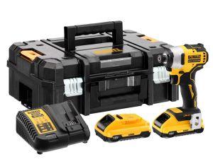 DeWalt DCF809D2T 18V Brushless Compact Impact Driver Kit - 2 x 2.0Ah Li-ion Batteries & Case