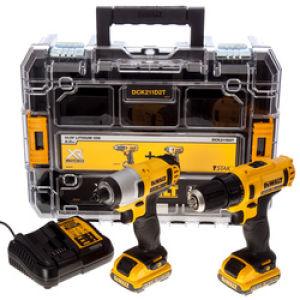 DeWalt DCK211D2T 10.8V Combo Kit - 2 x 2.0Ah Batteries