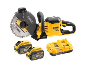 DeWalt DCS690X2 54V/18V XR Flexvolt 230mm Cut Off Saw Kit - 2 X 9.0Ah Li-ion Batteries