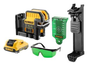 DeWalt DCE0825D1G 5 Spot Cross Line Laser Green - 10.8V Kit