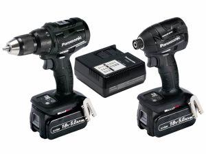 Panasonic EYC217LJ2G31 18v 2x5.0Ah Combi Drill Impact Driver Twin Kit