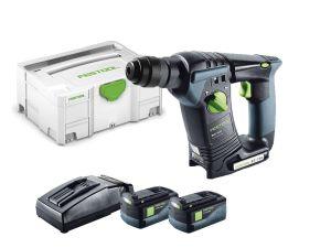 Festool SDS  Hammer BHC 18 Li 5.2 AS Plus 2 x 5.2Ah Li-Ion Batteries