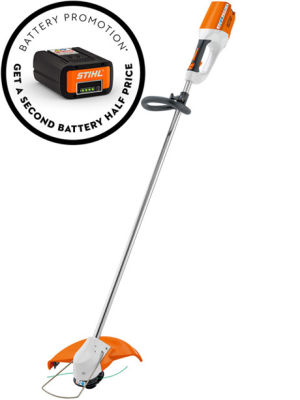 Stihl FSA85P Cordless Grass Trimmer Promotional Set inc 2 Batteries & Charger