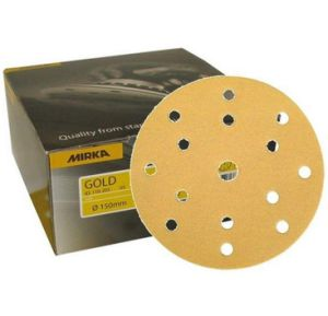 Mirka Gold Grip Abrasive Disc -150mm 15H P180 - 10 Pack