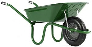 Haemmerlin 1041 Original Wheelbarrow Green 90L - Pneumatic Tyre