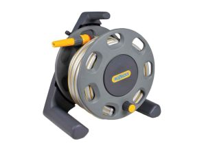 Hozelock 2412 30m Freestanding Compact Hose Reel & 25m of 12.5mm Hose