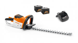 Stihl HSA56P Hedge Trimmer & 2 AK10 Batteries & AL101 Charger