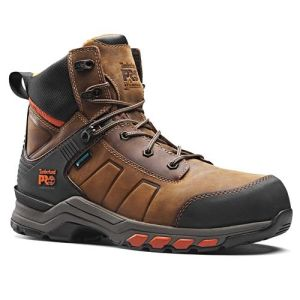 Timberland Pro Hypercharge Leather Boot Brown/Orange - Size 11