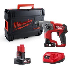 Milwaukee M12CH602X 12v Fuel SDS Hammer Drill - 2 x 6Ah Li-ion Batteries