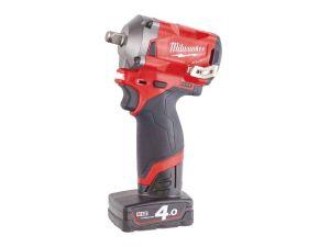 "Milwaukee M12FIWF12-622X 1/2"" Impact Wrench 1 x 6.0Ah & 1 x 2.0Ah Batteries"