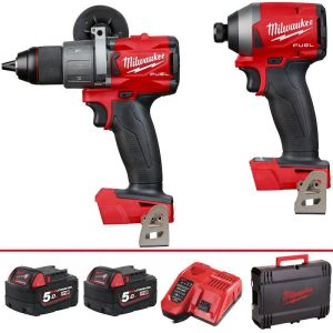 Milwaukee M18FPP2A2-502X 18V Li-ion Fuel Combi Drill & Impact Driver Twin Pack