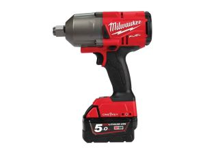 Milwaukee M18ONEFHIWF34-502X 18v Impact Fuel Wrench Kit inc. 2 x 5.0Ah Batteries
