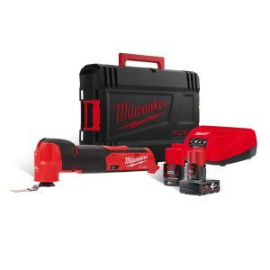 Milwaukee M12FMT-422X Fuel Multi-Tool 12V c/w 1 x 4.0Ah & 1 x 2.0Ah Batteries