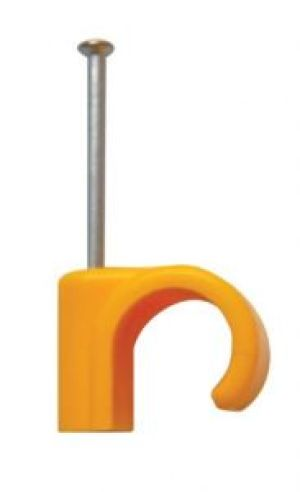 Talon 15mm Nail-In Clip - Yellow - Gas - Bag of 100
