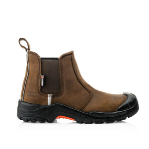 Buckler Safety Dealer Boot - Dark Brown - Nubuck Leather - Size 8