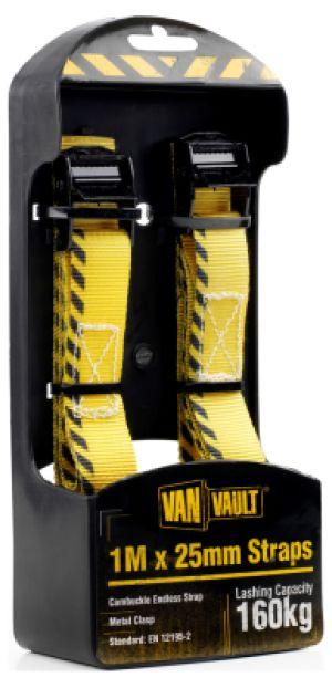 Van Vault 1.0m x 25mm Straps (Pair) S10678