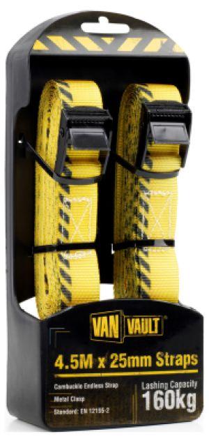 Van Vault 4.5m x 25mm Strap (Pair) S10680