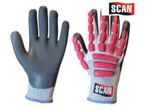 Scan Anti-Impact Latex Cut 5 Gloves - Size 10 (XL)