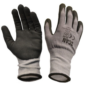 Scan Breathable Microfoam Nitrile Gloves - Size 9 (L)
