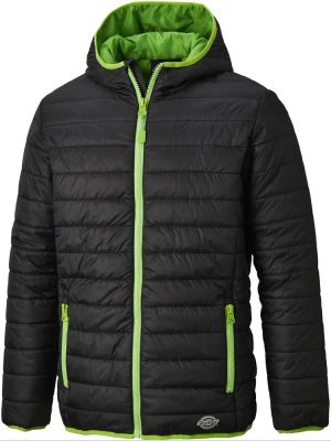 Dickies Stamford Puff Jacket - Black/Lime - Size Large
