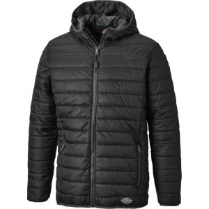 Dickies Stamford Puff Jacket - Black/Grey - Size Small