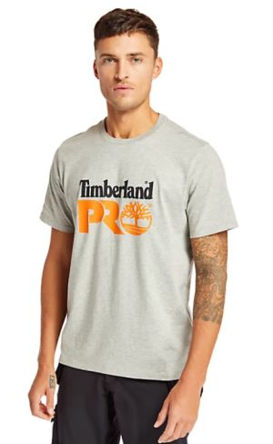 Timberland Pro - Cotton Core T-Shirt - Grey/Marl - Large
