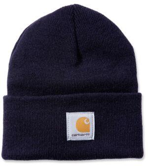 Rib Knit Beanie Hat - Black - One Size